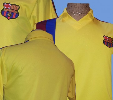 F.C. BARCELONA | MODELO ALTERNATIVO AMARILLO | TEMPORADA 1983